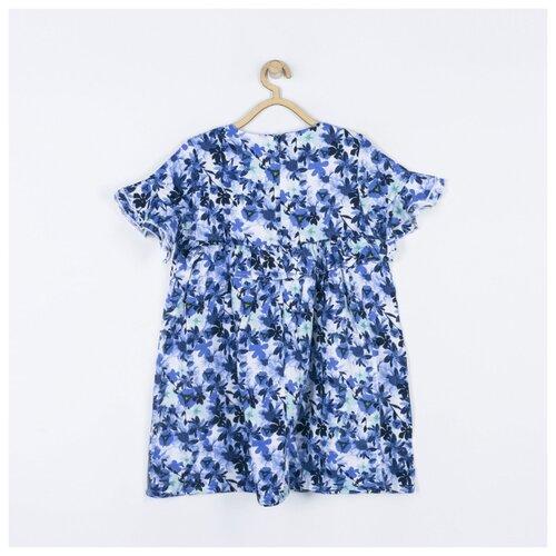 Платье COCCODRILLO размер 116, белый/синий
