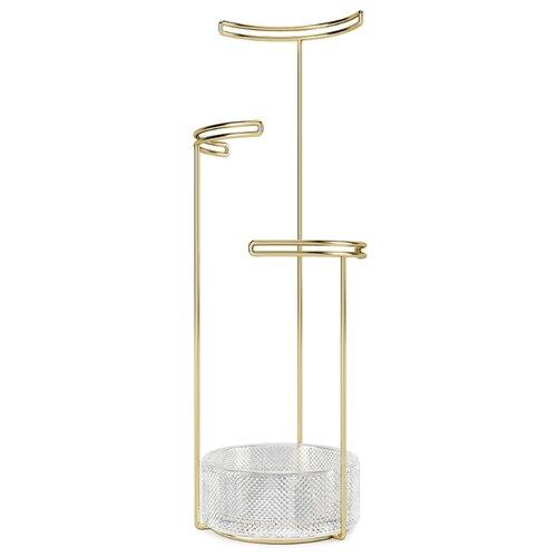 Фото - Подставка для украшений Umbra Tesora, стекло/медь подставка для колец umbra anigram олень медь