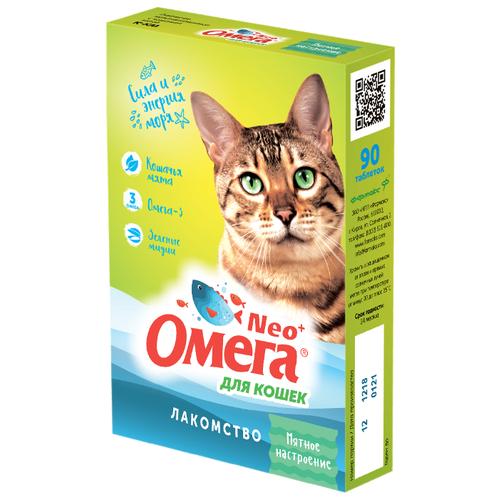 Добавка в корм Омега Neo + Мятное настроение для кошек 90 таб.