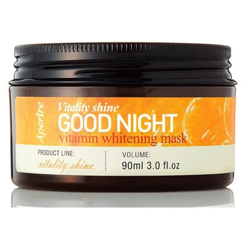 Aperire Маска ночная с витаминами для ровного тона кожи Vitality Shine Good night vitamin whitening mask, 90 мл