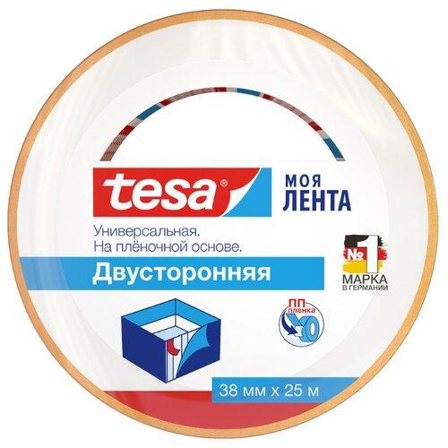 Фото - Клейкая лента универсальная Tesa 55545, 38 мм x 25 м клейкая лента малярная tesa 55592 36 мм x 50 м