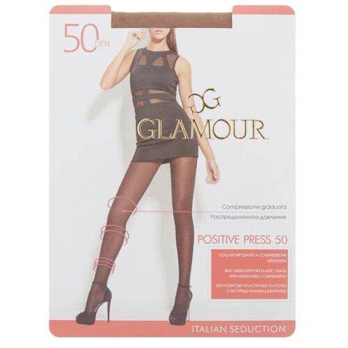 Колготки Glamour Positive Press 50 den, размер 2-S, miele (бежевый) колготки glamour prestige 40 miele