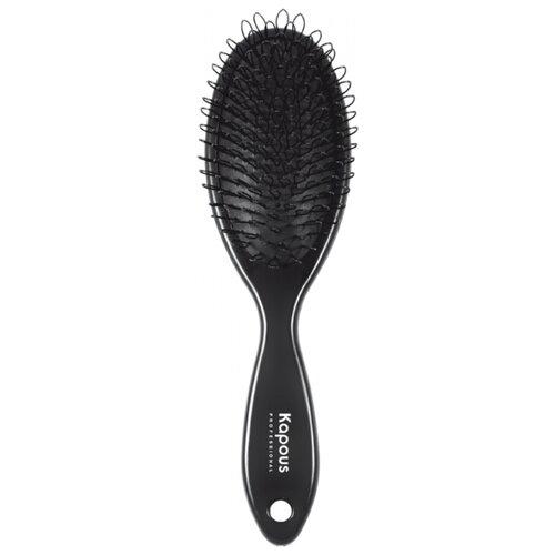 Kapous Professional Щетка массажная с петлями для нарощенных волос черныйРасчески и щетки<br>