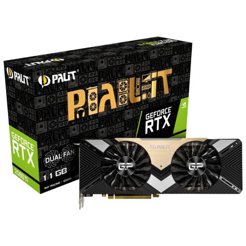 Купить Видеокарта Palit GeForce RTX 2080 Ti 1350MHz PCI-E 3.0 11264MB 14000 МГц 352 bit HDMI 3xDisplayPort HDCP Dual Retail