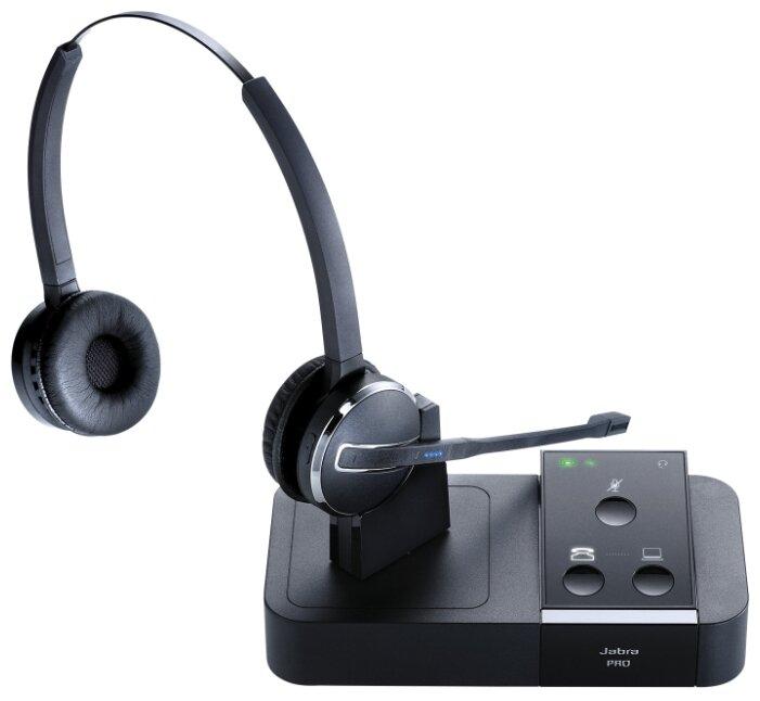 DECT-гарнитура Jabra PRO 9450 Flex Duo черный/серебристый фото 1