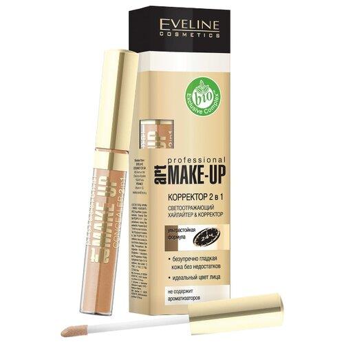 Фото - Eveline Cosmetics Корректор 2 в 1 Art Professional Make-Up, оттенок light eveline cosmetics тональный крем art scenic professional make up 30 мл оттенок пастельный