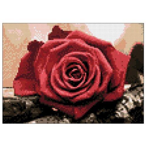 Купить Гранни Набор алмазной вышивки Красная роза (Ag 4631) 27х19 см, Алмазная вышивка