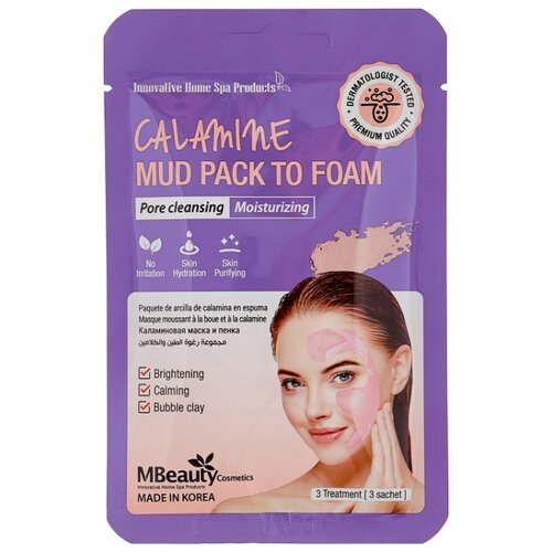 Mbeauty маска-пенка Calamine Mud Pack To Foam каламиновая для очищения пор, 7 мл, 3 шт. mr4010 mr4020 to 220 7