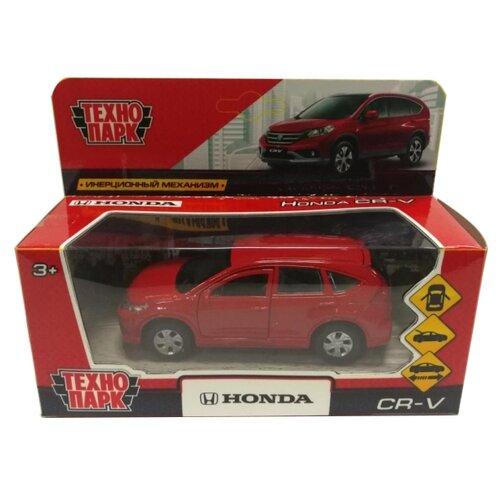 Легковой автомобиль ТЕХНОПАРК Honda CR-V (CR-V-BK/GD/RD) 12 см красный