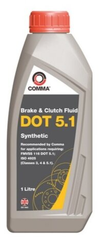 Тормозная жидкость Comma DOT 5.1 (BF51L) 1 л