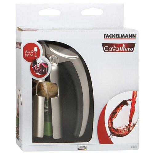 Штопор Fackelmann Cavalliero для шампанского стальной с позолотой