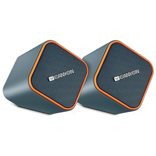 Компьютерная акустика Canyon Compact Stereo Speaker dark grey / orange