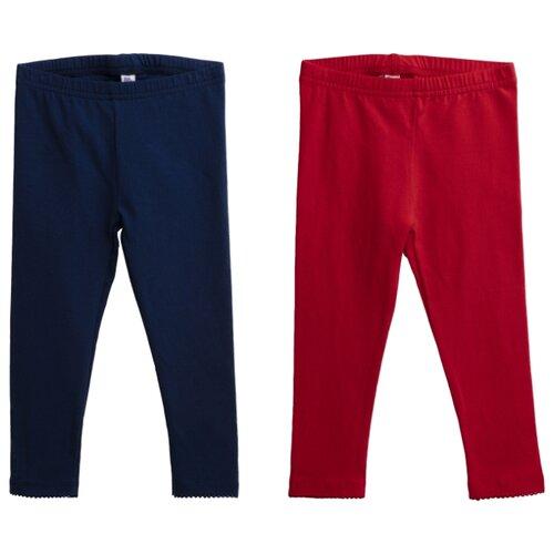 Легинсы playToday размер 80, синий/красныйБрюки и шорты<br>