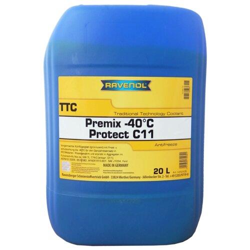 Антифриз Ravenol TTC - Protect C11 Premix -40ºC 20 л антифриз ravenol hjc hybrid japanese coolant premix 40°c готовый цвет зеленый 5 л