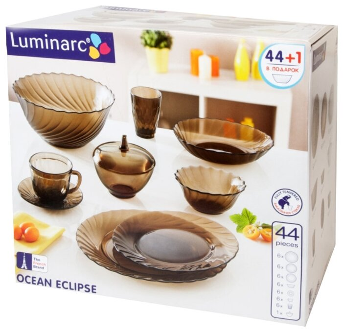 Столовый сервиз Luminarc Ocean Eclipse 45 предметов l5110