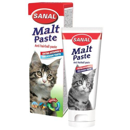 Добавка в корм SANAL Malt Paste для вывода шерсти у кошек и котят 100 г