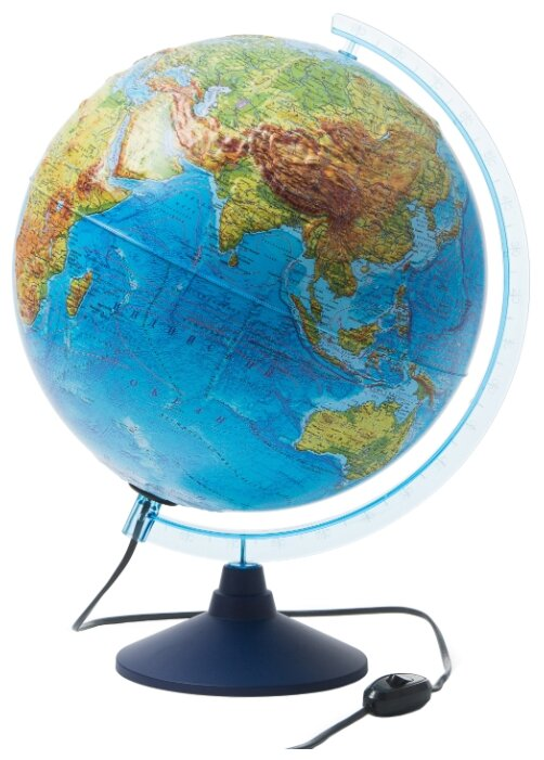 Глобус Земли физико-политический, Globen (320 мм, с подсветкой, рельефный, Ке013200233, серия Классик Евро)
