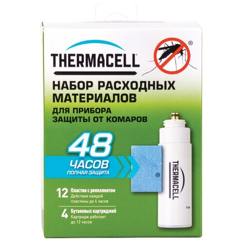 Набор запасной Thermacell Refills MR 400-12 (12 пластин + 4 картриджа) лампа противомоскитная thermacell trailblazer camp lantern