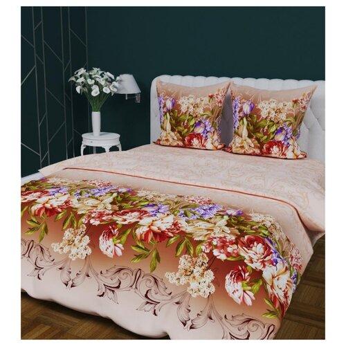 цена Постельное белье семейное Текстильная лавка Живописные цветы 70 x 70 бязь цветы на бежевом онлайн в 2017 году