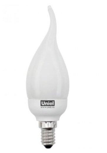 Лампа люминесцентная Uniel UL-00000800, E14, C21, 9Вт фото 1
