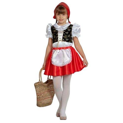 Купить Костюм Батик Красная шапочка (7002), красный/белый/черный, размер 104, Карнавальные костюмы