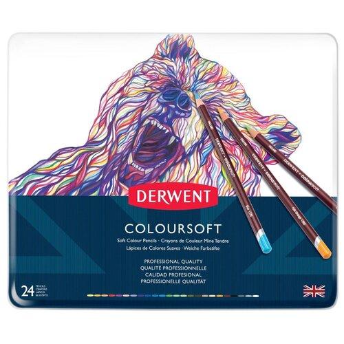Derwent Цветные карандаши Coloursoft, 24 цвета (0701027) derwent цветные карандаши drawing 12 цветов 0700671