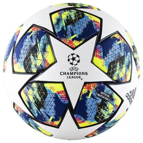 Футбольный мяч adidas Finale 19 OMB белый/синий/желтый/черный 5