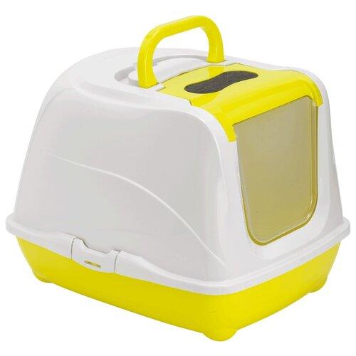 цена на Туалет-домик для кошек Moderna Flip Cat Large 50х39х37 см лимон