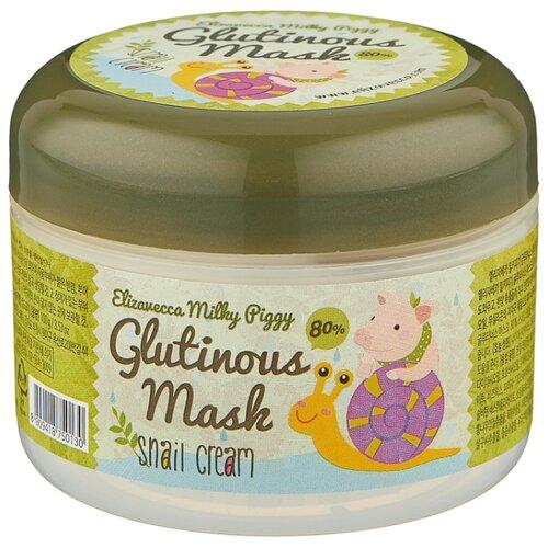 Elizavecca Milky Piggy Glutinous 80% Mask Snail Cream Крем-маска с муцином улитки для лица, 100 г маска для лица elizavecca elizavecca el039lwtdt35