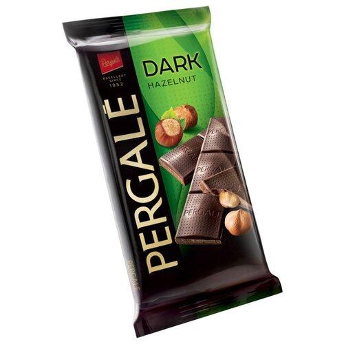 Шоколад Pergale темный с цельным фундуком 50% какао, 100 г