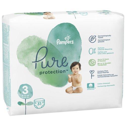 Pampers подгузники Pure Protection 3 (6-10 кг) 31 шт.