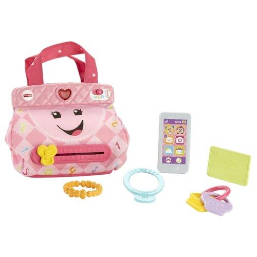Интерактивная развивающая игрушка Fisher-Price Кошелечек с аксессуарами FTG07 розовый mattel развивающая игрушка fisher price слоник с шариками