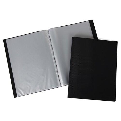 Hatber Папка пластиковая А4 LINE на 100 вкладышей черный папка уголок hatber monster high дракулаура цвет черный розовый формат а4