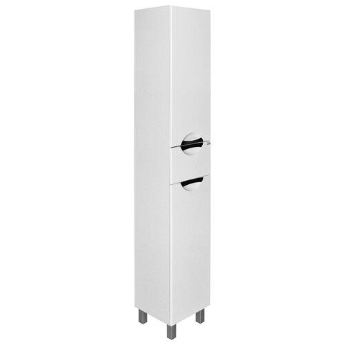 Шкаф-пенал для ванной Mixline Кассиопея-35, (ШхГхВ): 35х32х186 см, белый/хром