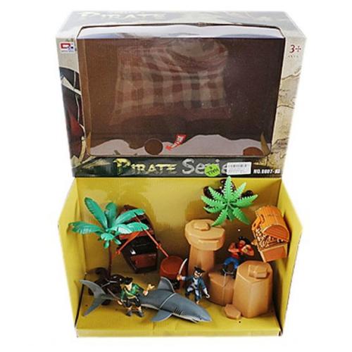 Игровой набор Shantou Gepai Пиратский остров 0807-7 рюкзак 0807 ulzzang