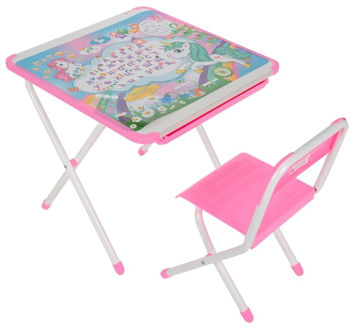 Комплект ДЭМИ стол + стул Единорог (2-02)