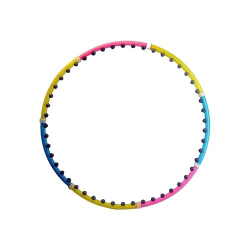 цена на Массажный обруч Body Sculpture 46 BD 100 см розовый/желтый/синий