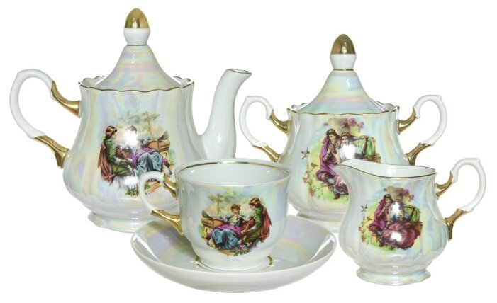 Чайный сервиз Добрушский фарфоровый завод Романс (Мадонна) 15 предметов