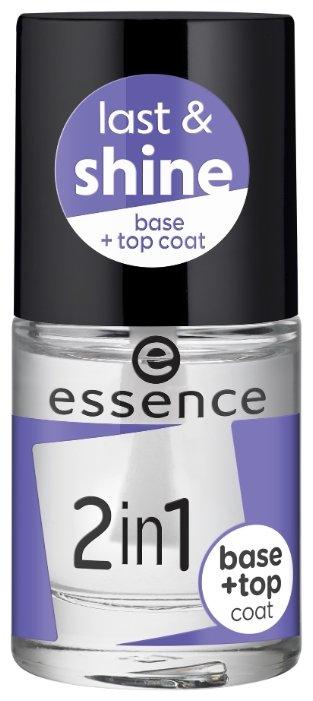 Базовое и верхнее покрытие Essence 2in1 Base & Top Coa 8 мл