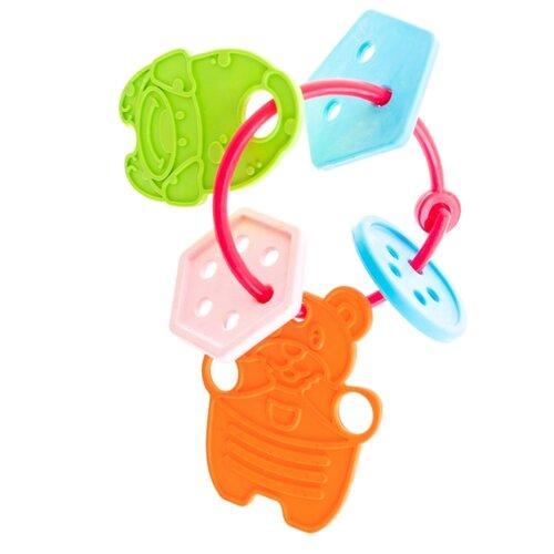 Купить Прорезыватель-погремушка Пластмастер Фигурки оранжевый/голубой/зеленый, Погремушки и прорезыватели