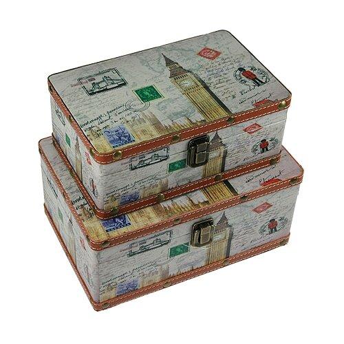 Русские подарки Набор сундучков 34717 серыйШкатулки<br>