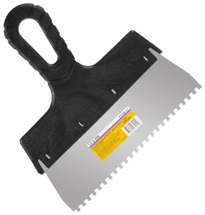 Шпатель зубчатый РемоКолор 12-6-200 200 мм