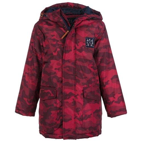 Куртка playToday Покоритель дорог 191053 размер 122, красный с камуфляжным принтомКуртки и пуховики<br>