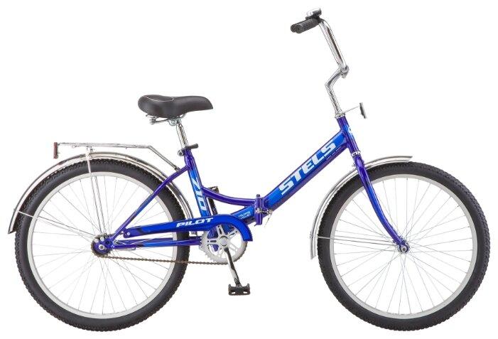 Велосипед 24 складной STELS Pilot 710 (2018) количество скоростей 1 рама сталь 16 Малиновый