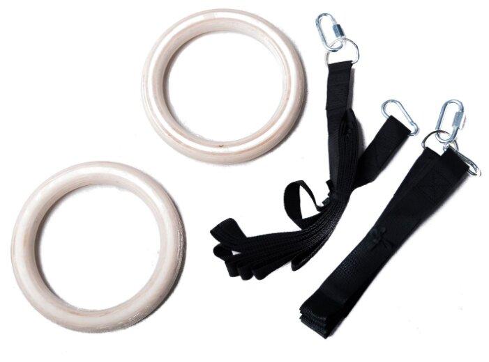 Кольцо гимнастическое 2 шт. SPROOTS SPR Rings бежевый/черный