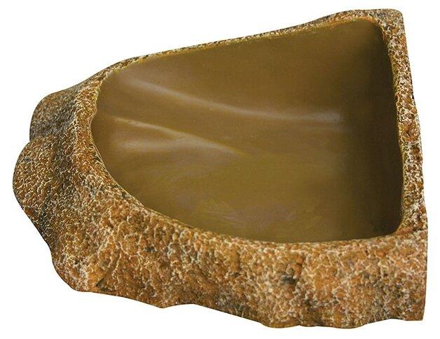 Кормушка для рептилий Reptile One Dyno Rock Bowl Corner Fit Deep