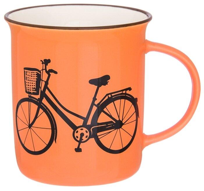 Купить Elan gallery Кружка Велосипед 320 мл коралловый по низкой цене с доставкой из Яндекс.Маркета (бывший Беру)