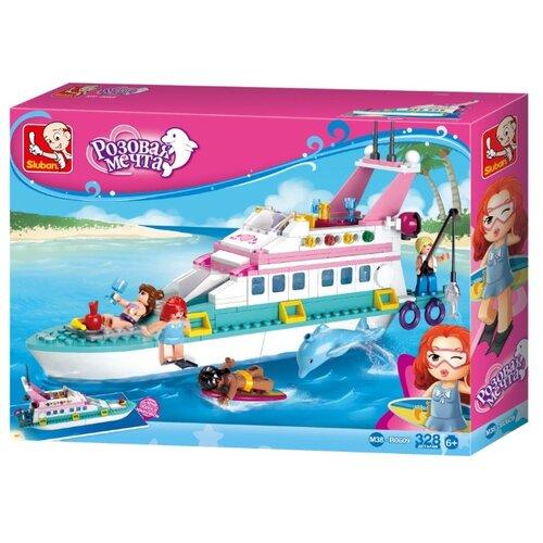 Купить Конструктор SLUBAN Розовая мечта M38-B0609 Яхта, Конструкторы