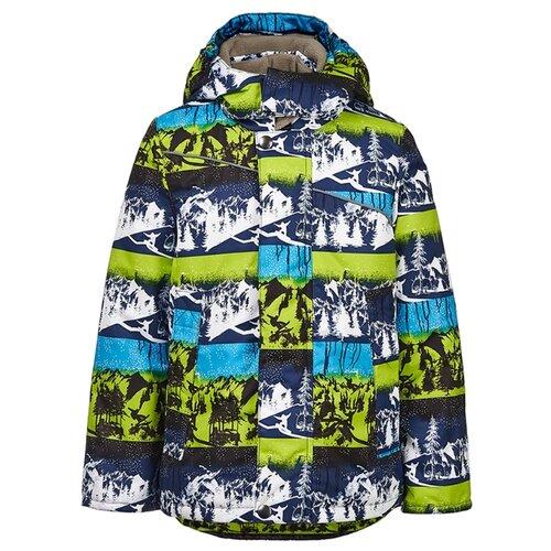 Куртка Oldos Эльбрус LAW191T108JK размер 104, зеленый/синий куртка для девочки jicco by oldos ирма цвет малиновый 2j8jk01 размер 104 4 года