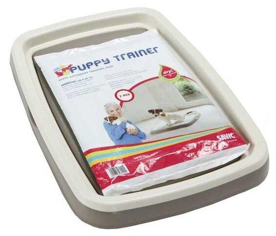 Туалет для щенков SAVIC Puppy Trainer M 46.5х33.5х4 см белый белый/серый